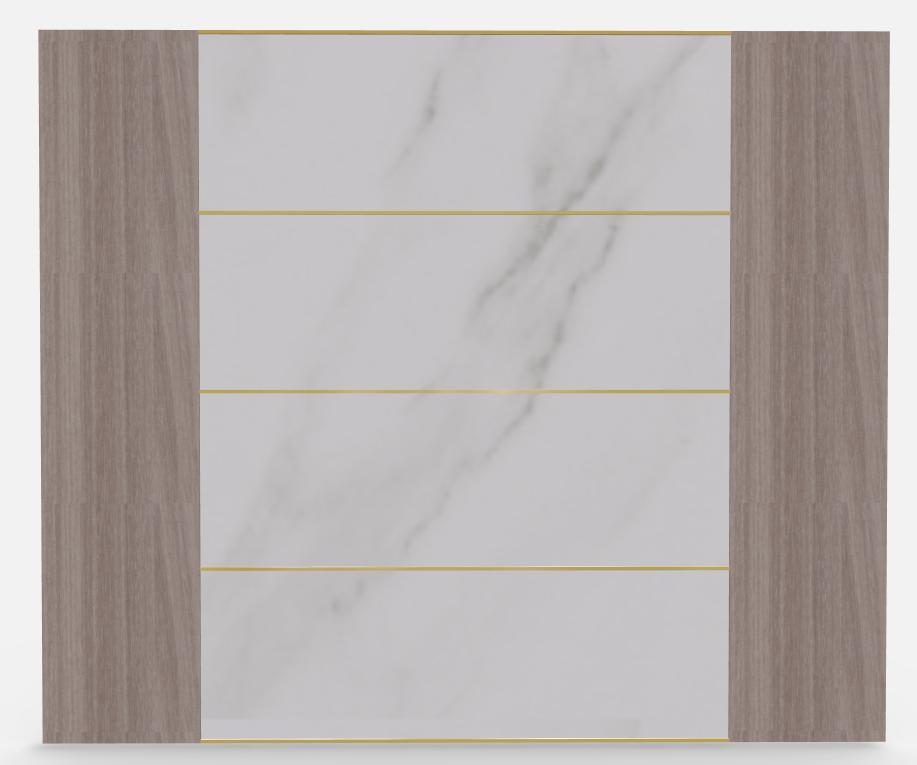 木作墙板+冰火板组合